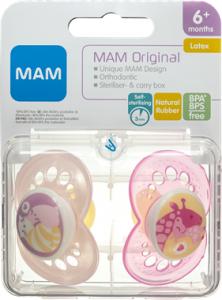 MAM Original Latex Pacifier Girls +6 Months