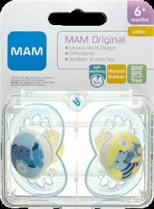 MAM Original Latex Pacifier Boys +6 Months
