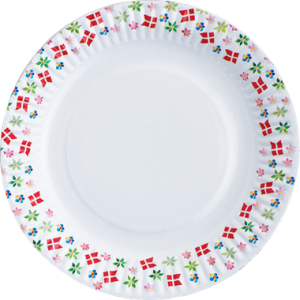 One Time Use Plates Danish Flags & Flowers