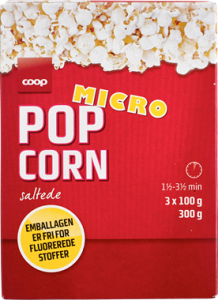 Coop Salted Micro Popcorn