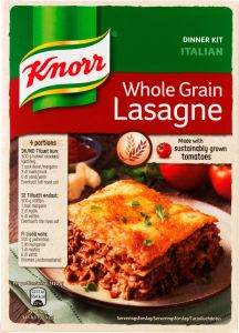 Knorr Whole Grain Lasagne