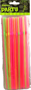 Colourful Straws 50stk.