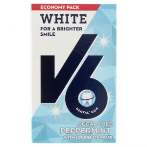 V6 Chewing Gum White Peppermint