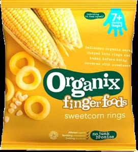 Organix Finger Foods Sweetcorn Rings