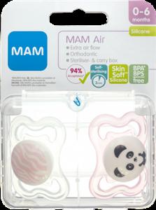 MAM Air Pacifier Girls 0-6 Months