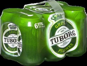 Green Tuborg 6-pack