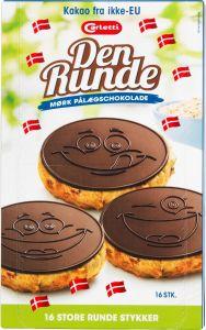 CarlettiDen Runde DarkChocolate Plates