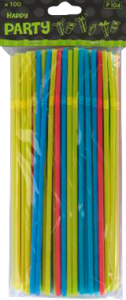 Colourful Straws 100stk.
