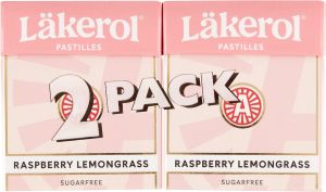 Läkerol Raspberry Lemongrass 2-pack