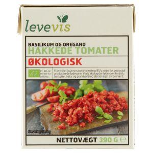 Levevis Økologisk Hakkede Tomater m. Basilikum & Oregano