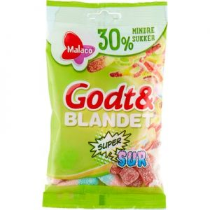 Malaco Godt & Blandet Sur Mindre Sukker