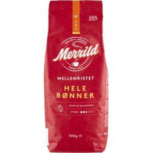 Merrild Mellemristede Hele Kaffebønner