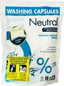 Neutral Washing Capsules White