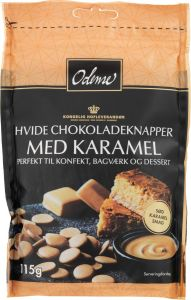 Odense White Chocolate Buttons with Caramel