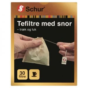Schur Tea filters with Cord