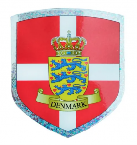 Sticker With The Danish Coat Of Arms