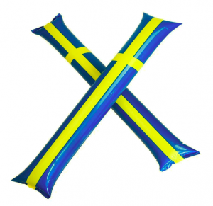 Swedish Flag Clapping Balloon