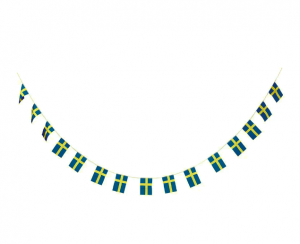 Swedish Flag Garland