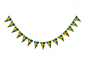 Swedish Flag Pennant Garland