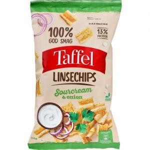 Taffel Linsechips Sourcream & Onion