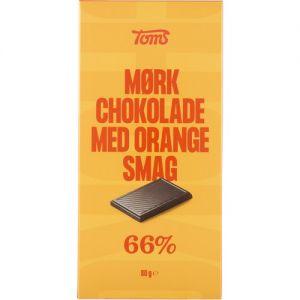 Toms Mørk Chokolade med Orangesmag 66%