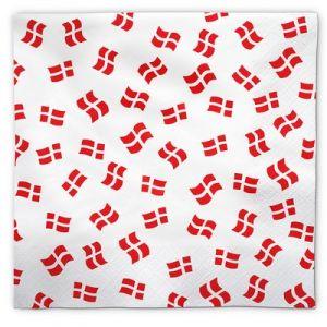 Napkins Danish Flags 50 pieces