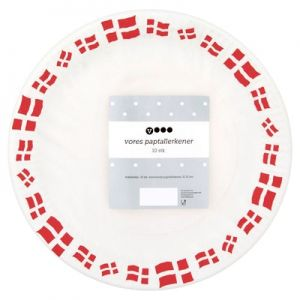 One Time Use Plates Danish Flags