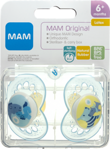 MAM Original Latex Pacifier Boys +6 Months