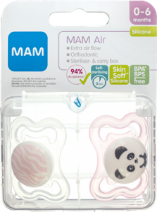 MAM Air Pacifier Girls 0-6 Months