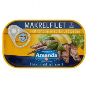 Amanda Mackerel in Lemon Oil with Crushed Pepper
