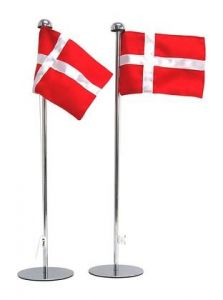 Danish Table Flags 2-pak