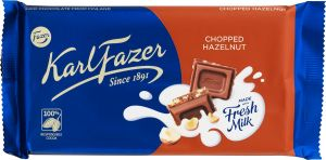 Karl Fazer Chocolate Chopped Hazelnut