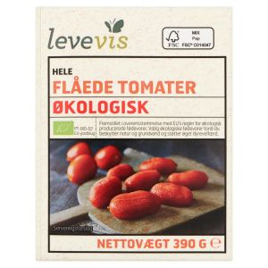 Levevis Organic Whole Peeled Tomatoes