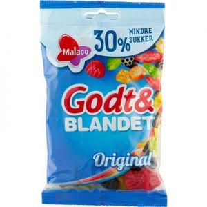 Malaco Godt & Blandet Original Mindre Sukker