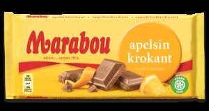 Marabou Apelsin Krokant Chokolade
