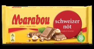 Marabou Schweizer Nød Chokolade