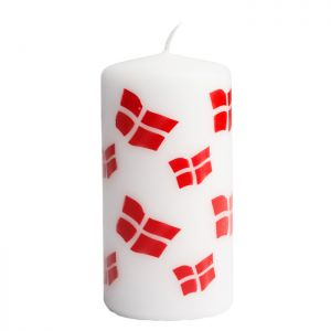 Danish Flag Candle
