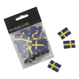 Svenske Flags Papir Konfetti