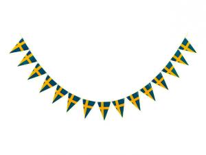 Svensk Flag Vimpel Guirlande