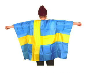 Svensk Flag Supporter Kappe
