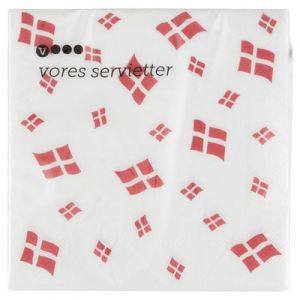 Napkins Danish Flags 20 pieces