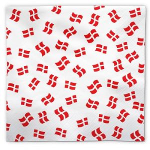 Napkins Danish Flags 50 pieces