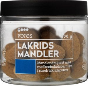 Vores Liquorice Almonds with Milk Chocolate