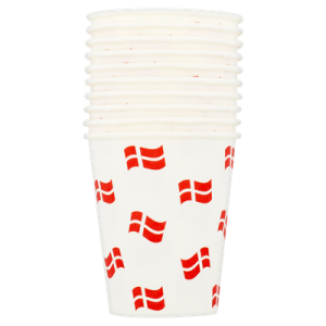 One Time Use Drink Cups Danish Flags